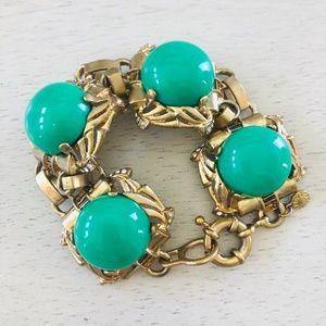 J Crew Gold & Mint Turquoise Bobble Bracelet